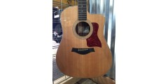Used- Taylor 210CE-DLX Grand Auditorium Acoustic Electric Cutaway Guitar