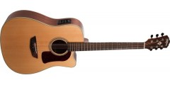 Open Box - Washburn HD100SWCEK-D Heritage Dreadnought Cutaway electric Torr