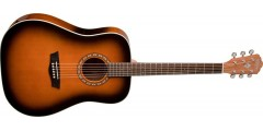 Washburn WD7SATB Dreadnought Acoustic Guitar Solid Spruce Top Tobacco Burst