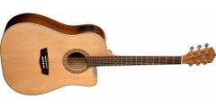 Washburn WD7SCE Dreadnought Cutaway Electric Acoustic Guitar Solid Sitka Sp