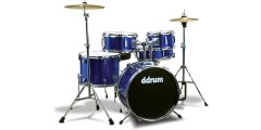 Ddrum D1 Complete 5pc Junior Drum Set Police Blue