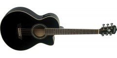 Washburn EA10B Petite Jumbo Electric Acoustic Guitar Black