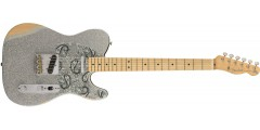 Fender  Fender  Brad  Paisley  Road  Worn  Telecaster  Silver  Sparkle  Wit