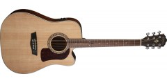 Washburn HD10SCE Heritage Series Dreadnought Cutaway Electric Solid Stika S