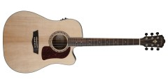 Washburn HD20SCE Dreadnought Cutaway Acoustic Electric Guitar Solid Spruce