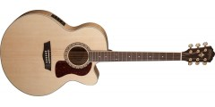 Open Box - Washburn  HJ40SCE  Heritage  Jumbo  Acoustic  Electric  Solid  S