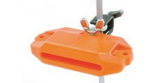 LP  Latin  Percussion  Piccolo  Jam  Block  With  Mounting  Bracket  Orange