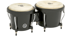 Lp Latin Percussion Aspire Fiberglass Bongos Black (6 3/4 and 8 inch)