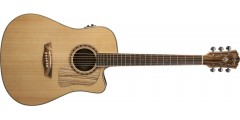 Washburn WCSD32SCEK Solid Spruce Top Zebrawood Back Sides with Gig Bag