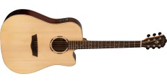 Washburn WLD20SCE Woodline Dreadnought Solid Spruce top Cutaway Acoustic El