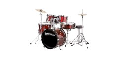 Ludwig LJR1064 Junior Outfit 5 Piece Drum Set with Cymbals (Wine Red)