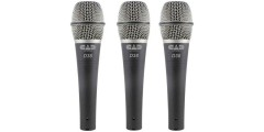 CAD Audio CadLive D38X3 Dynamic Microphone 3 Pack