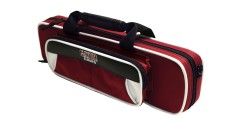 Lightweight Flute Case White and Maroon