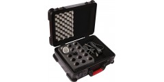 ATA Molded Case w/ Drops for 15 Mics - TSA Latches