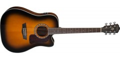 Washburn HD10SCETB Solid Top Acoustic Electric Tobacco Burst