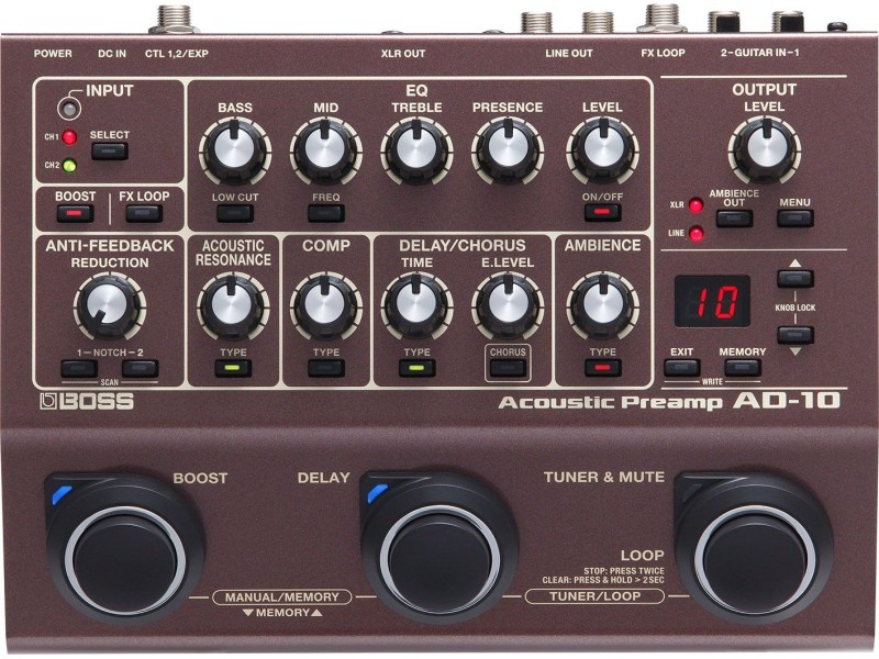 Boss AD-10 Acoustic Guitar Preamp