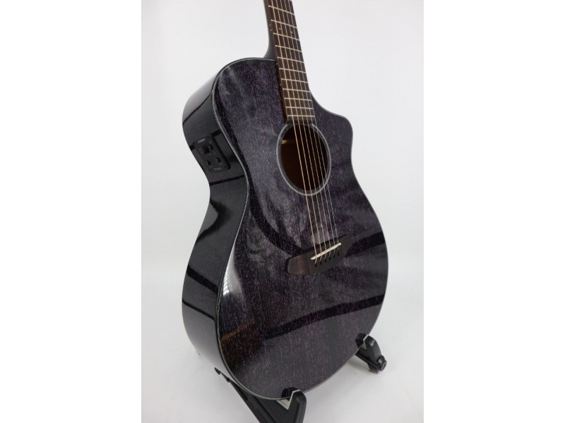 Breedlove Rainforest S Concert Orchid CE Solid African Mahogany Purple pore fill - Black stain Gloss