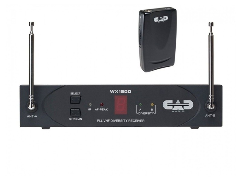 CAD StagePass WX1210 VHF Wireless Body Pack System with the CAD 302 Head Set Mic