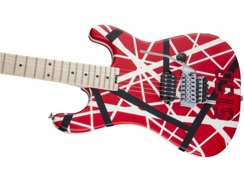 EVH Stripe 5150 Electric Guitar with Red Black White Stripes