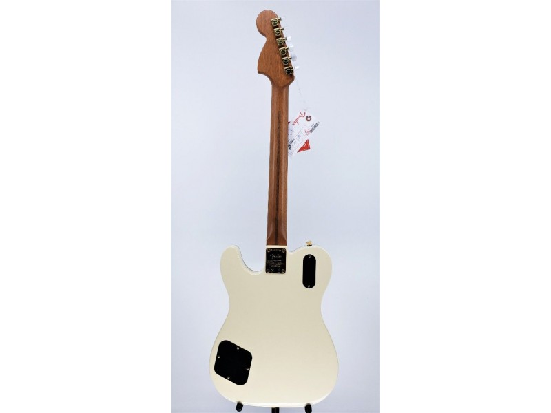 Fender Parallel Universe Vol II Troublemaker Telecaster Deluxe Olympic White Ser#PU205748