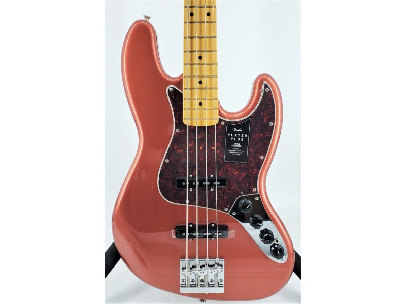 Fender Player Plus Jazz Bass Aged Candy Apple Red with Gig Bag Ser#MX21167786