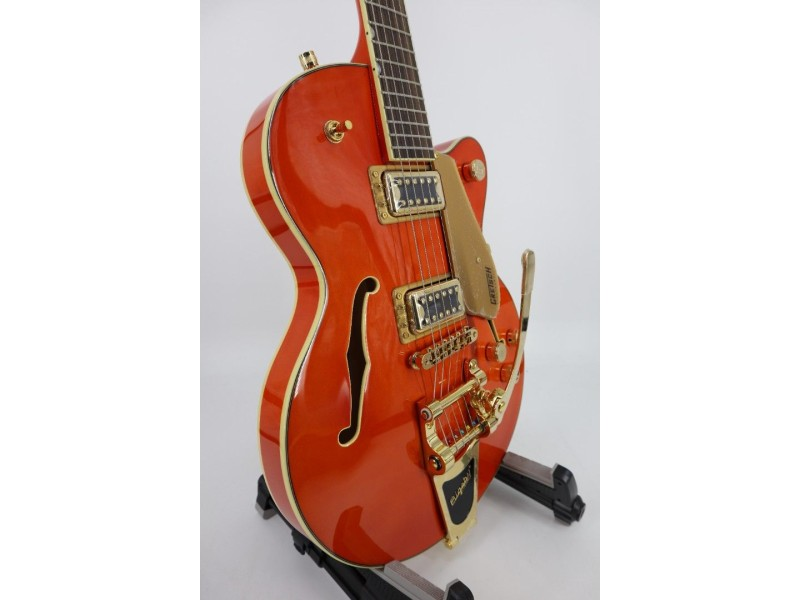 Gretsch G5655TG Electromatic Series Hollow Body Electric Guitar with Single Cut  Bigsby Gold Hardware Orange Serial #CYGC21041073