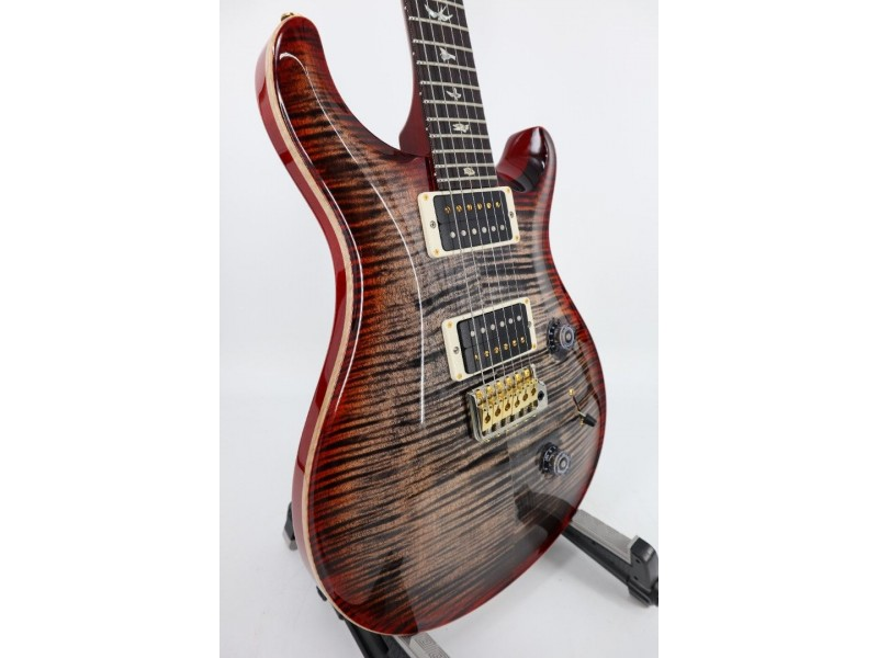 Paul Reed Smith PRS Core Custom 24 Flamed Maple Hybrid Package Charcoal Cherry Sunburst Pattern Thin Ser # 0317463
