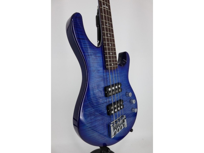 Paul Reed Smith PRS SE Kingfisher 4 String Electric Bass Guitar Faded Blue Wrap Around with Gigbag