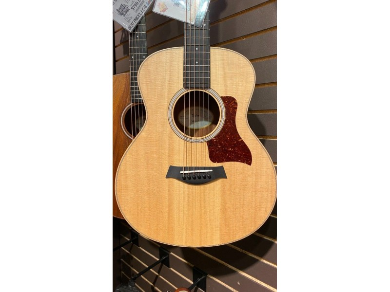 Taylor GS MINI-E-Black Limba LTD Solid Sitka Spruce Top Black Limba Back and Sides Hard Bag & Prefitted for ES-Go Pickup System