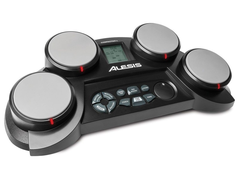 Alesis 4 piece tabletop drum pad with 70 voices, 50 play along songs, and game function