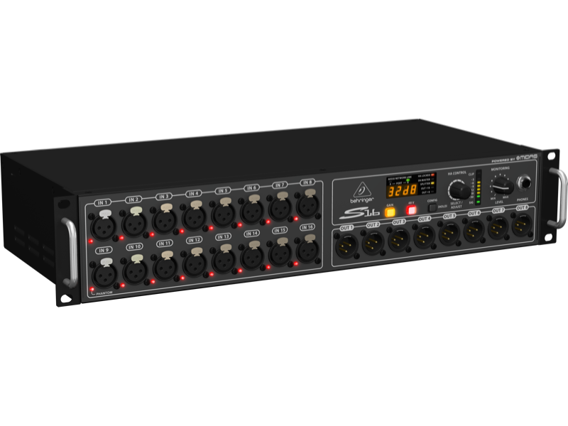 Behringer S16 DIGITAL SNAKE I/O Box with 16 R/C Mic Line Inputs AES50 Networking