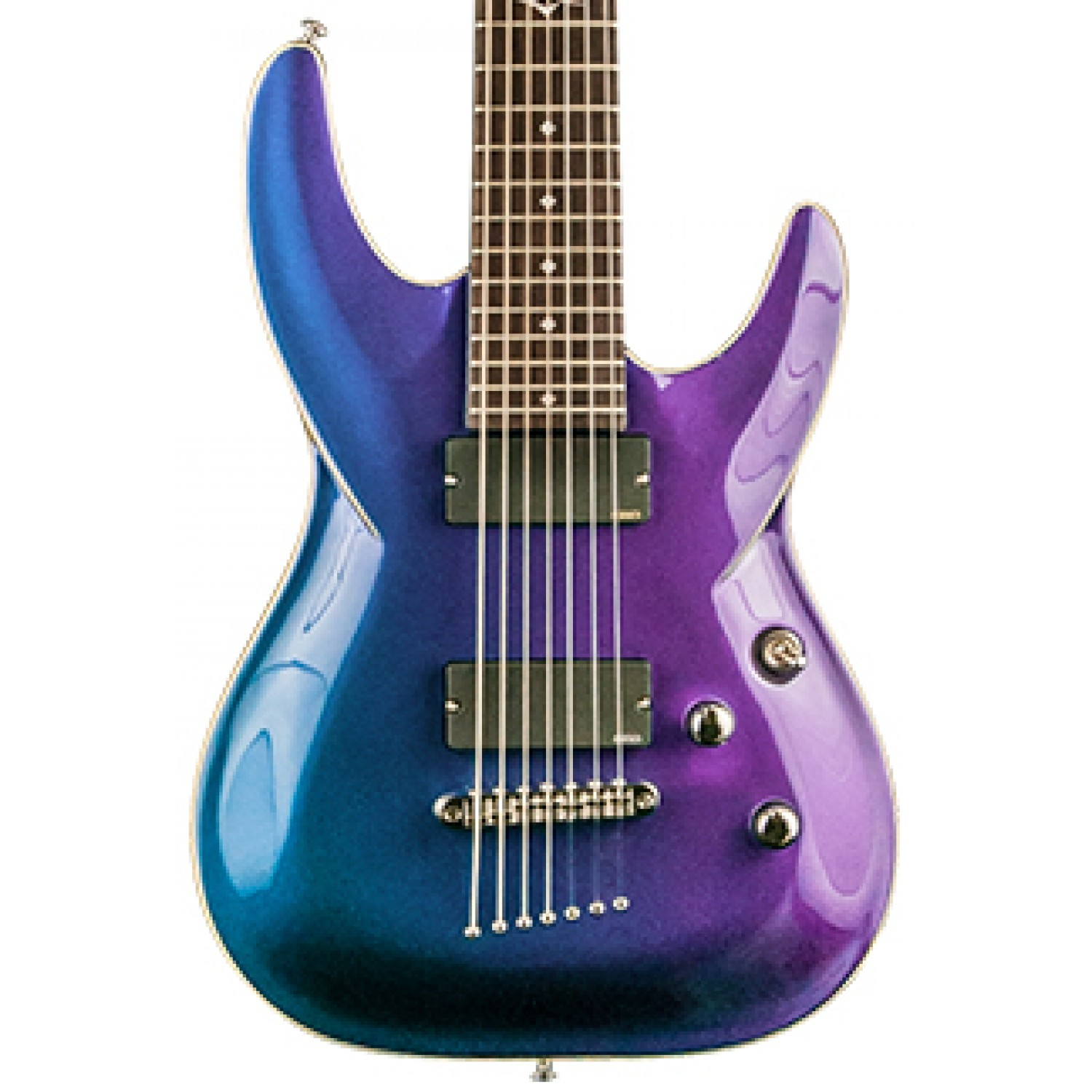 dbz diamond barst7 gxp barchetta 7 string electric guitar galaxy purple. Black Bedroom Furniture Sets. Home Design Ideas