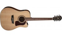 Washburn HD10SCE Heritage Series Dreadnought Cutaway Electric Solid Stika Spruce top with Mahogany back-sides Natural