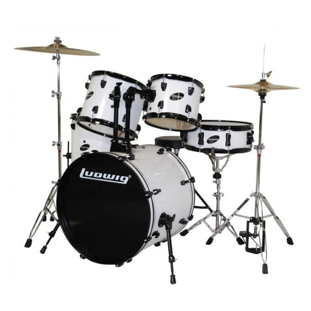 ludwig junior outfit drum set wine red wine red. Black Bedroom Furniture Sets. Home Design Ideas