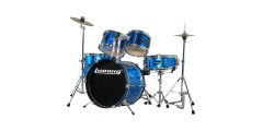 Ludwig LJR1062 Junior Outfit 5 Piece Drum Set with Cymbals (Blue)