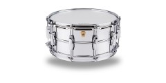 Ludwig LM402 Smooth Chrome Plated Aluminum 6.5 x 14 Inches Snare Drum with