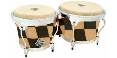Lp Latin Percussion Aspire Accent Wood Bongos Checker (6 3/4 & 8 inch)