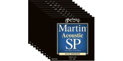 Martin MSP3200 80/20 Bronze Acoustic Guitar Strings Medium (10 sets)