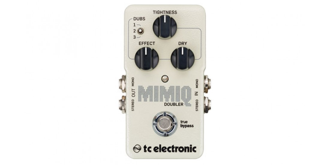 TC Electronic Mimiq Doubler pedal Add up to three additional guitar tracks