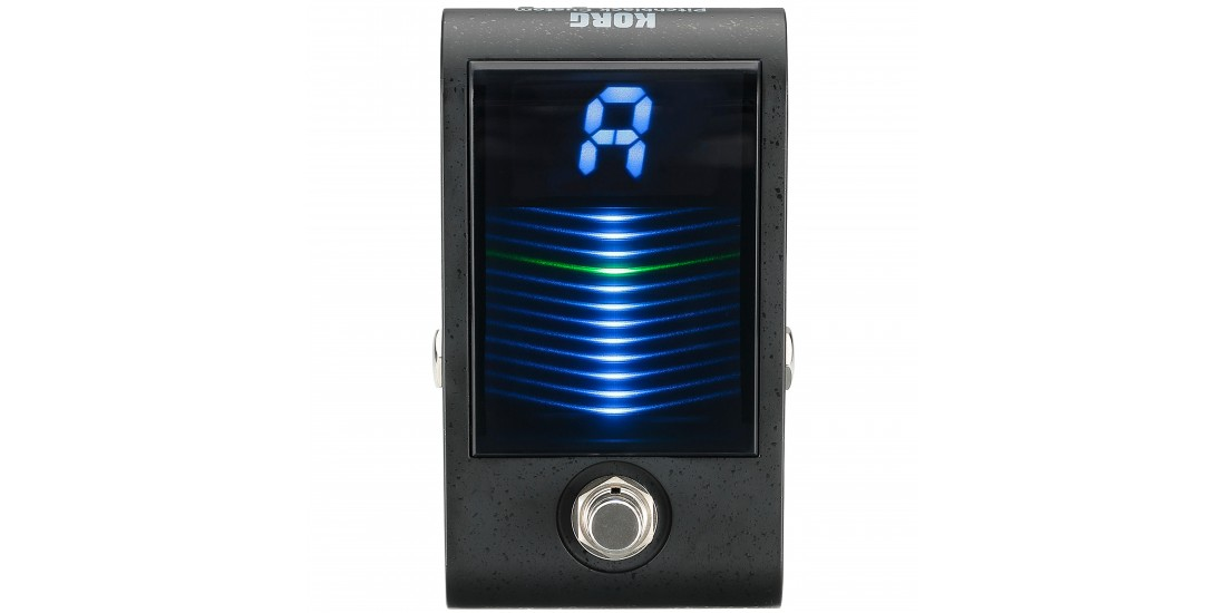 Korg PBCS Pitchblack Chromatic Custom Pedal Tuner for Guitar or Bass with Ultra bright 3D Display