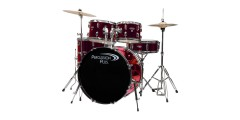 Percussion Plus PP5 5 Piece Drum Set with Hardware Cymbals and Throne Metal