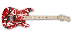 EVH Stripe Series Electric Guitar Red with White and Black Stripes