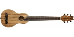 Washburn RO10ZZ Rover Acoustic Guitar Zebra Wood Top Back and Sides Include