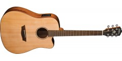 Washburn Solid Wood WD150SWCE Dreadnought Acoustic Electric Guitar