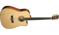Washburn WD55SCE Dreadnought Electric Acoustic Gui..