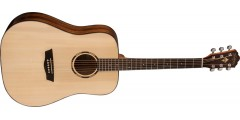 Washburn WLD10S Woodline Dreadnought Solid Spruce Top Acoustic Guitar Natur