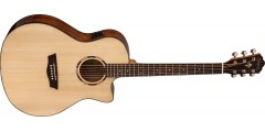 Washburn WLO10SCE Woodline Orchestra Solid Spruce Top Cutaway Acoustic Elec