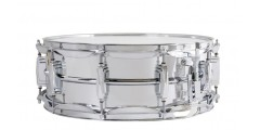 Ludwig LM400 Smooth Chrome Plated Aluminum 5 x 14 Inches Snare Drum with Im