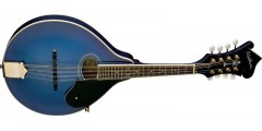 Washburn M1SDLTBL Solid Top A Style Mandolin F-Headstock Trans Blue