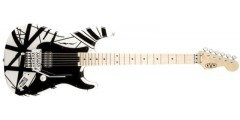 EVH Stripe Series Electric Guitar White with Black Stripes